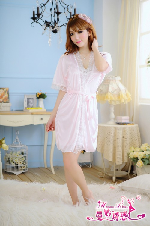 Satin Lace Robe