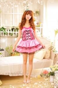 Pink Maid Sexy Uniform