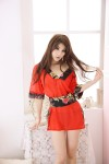 Midnight Charm Red Kimono