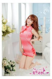 Red Cheong-Sam Dress