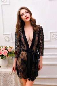 Laced Sexy Robe Lingerie