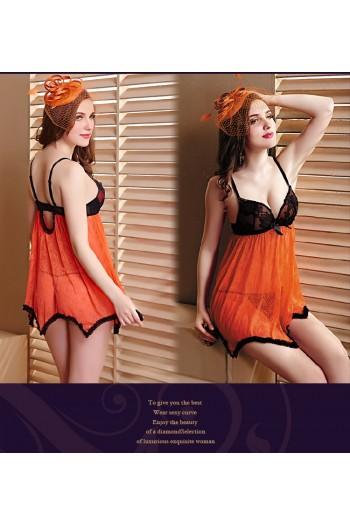 Sexy Bra Cup Babydoll - YBF8359-OR