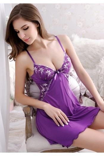 Chest Enhancement Sexy Lingerie-Purple