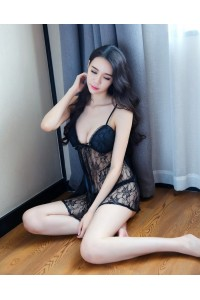 New Lace Sexy Babydoll Lingerie Black