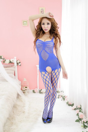 Whole Body Fishnet Stocking 11-Blue