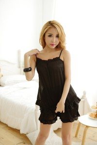 Black Pajamas Short Set