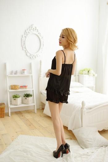 Black Pajamas Short Set
