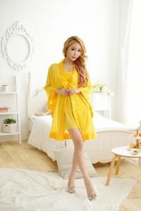 Concubine Sexy Lingerie Robe Yellow