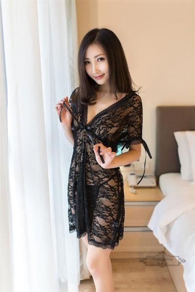 Lingerie Sleepwear Nightwear FL8044-BK
