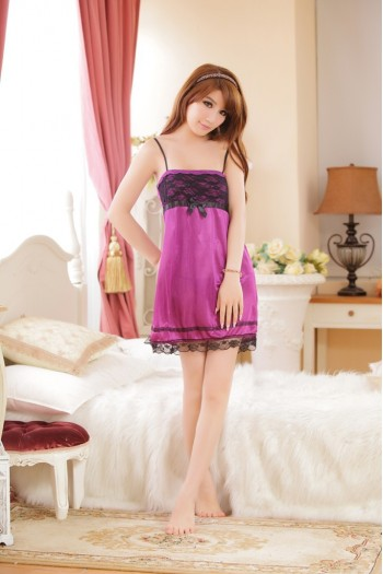 Purple Robe And Chemise