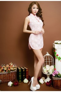 Lace Cheong Sam Lingerie Pink
