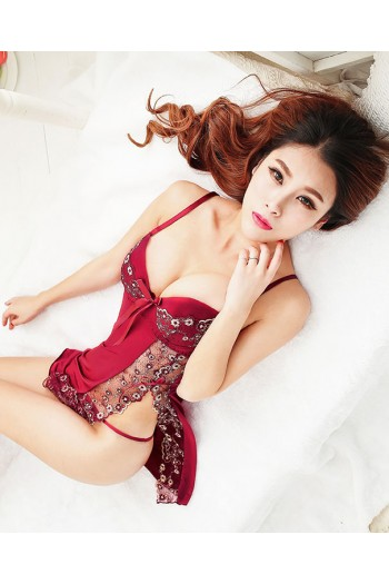 Maroon Bra Cup Sexy