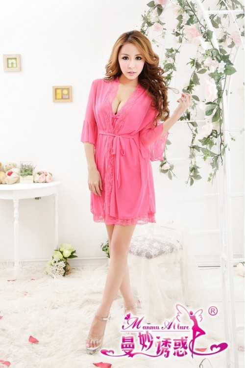Lovely Sexy Robe Lingerie