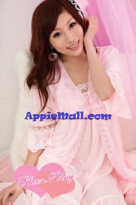 Satin Lace Pajamas Set