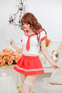 Cute School Uniforms-Red